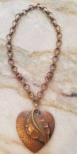 Vintage Copper Heart Necklace